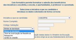 Formulário para adesão ao Magalhães